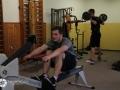 Sportovní aktivity v posilovně školy