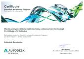Certifikát Autodesk