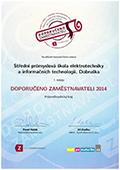 Certifikát Doporučeno zaměstnavateli 2014 - 1. místo