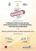 Certifikát Doporučeno zaměstnavateli 2016 - 1.místo