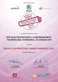Certifikát Doporučeno zaměstnavateli 2017 - 3.místo